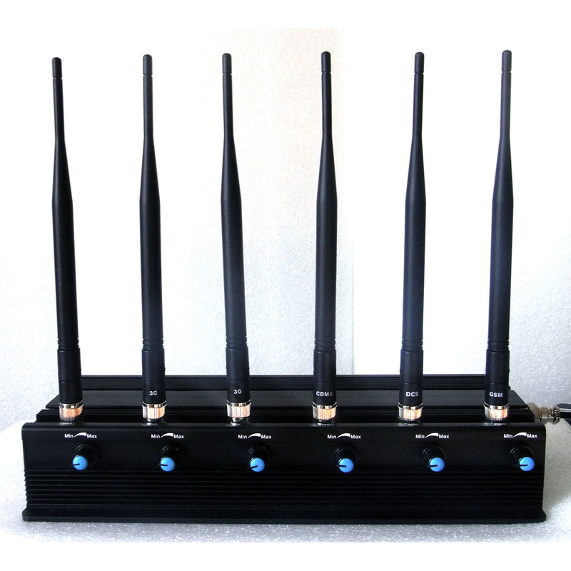 Best phone jammer , Adjustable 3G Mobile Phone GPS Lojack VHF UHF Wifi Jammer - Desktop Jammer