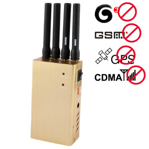 Cell phone jamer | Compact Size Handheld Signal Jammer 6W Total Transmit Power Eco Friendly