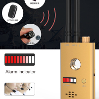 CC312 Wireless Scanner Signal GSM Device Finder RF Detector Micro Wave Detection Security Sensor Alarm Anti-Spy Bug Detect