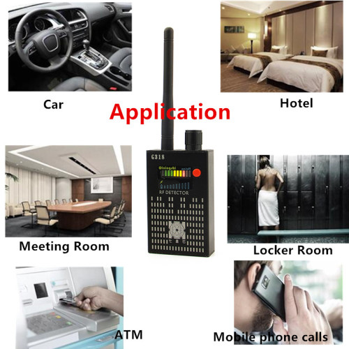 2018 Professional GPS Tracker Detector Anti-theft Detector Signal Hidden Voice Recorder Mini Wireless Camera RF Bug Cellphone