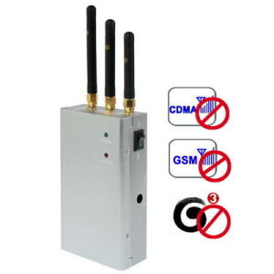 Cell phone blocker signal | 4 Antenna 20W High Power 3G Cell phone & WiFi Jammer with Outer Detachable Power Supply
